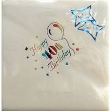 Luxury 40th Birthday Napkins-0