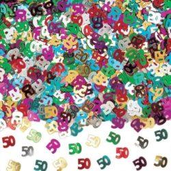 50th Birthday Multi Coloured Confetti-0