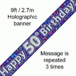 50th Birthday Banner Streamers-0