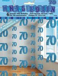 70th Blue Hanging string Decoration-0