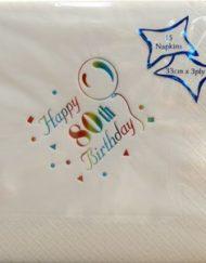 Luxury 80th Birthday Napkins-0