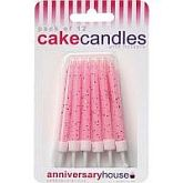Pink Glitter Candles-0