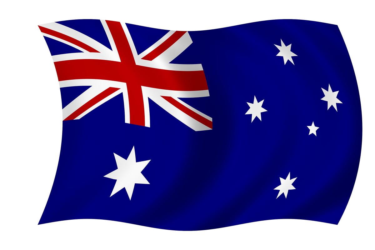 australian flag 5 x 3 polyester party plus sm5