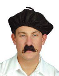 Black fabric beret-1876