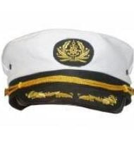 White Captains Cap -1873