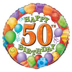 50th Birthday Foil Balloon-0