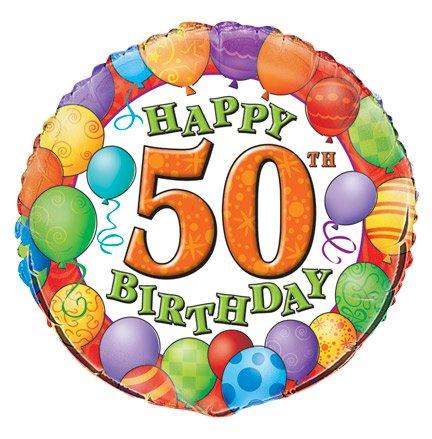 50th Birthday Foil Balloon 0