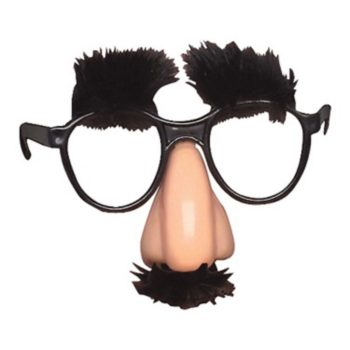 Groucho Glasses - Eyebrows, Nose & Moustache-0