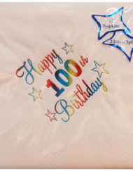Luxury 100th Birthday Napkins-0