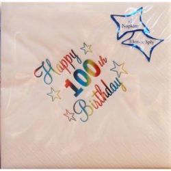 Luxury 100th Birthday Napkins-0