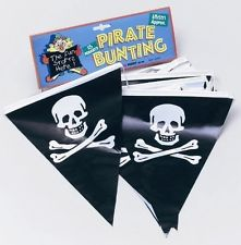 Pirate Skull and Crossbones Bunting -0
