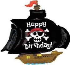 Large Pirate Ship Sharp Foil Balloon-0