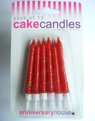 Red Glitter Candles-0