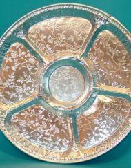 Round suzanne foil platter-0