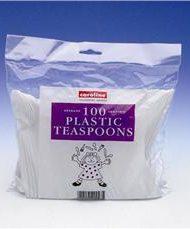 Plastic Tea spoons x 100-0