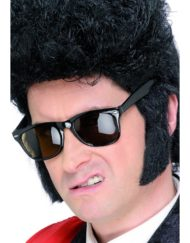 Teddy Boy Sideburns Black-0