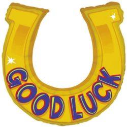 Good Luck Horse shoe Supershape Foil Balloon -0