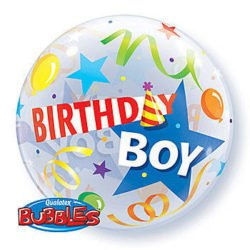 Birthday Boy Bubble Balloon-0
