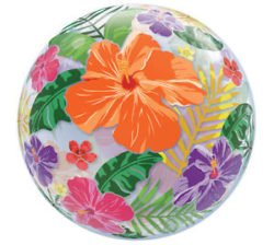 Tropical Flower Bubble Balloon-0