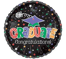 Congratulations On Your Graduation Foil Balloon-0