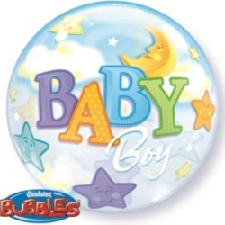 Baby Boy Bubble Balloon-0