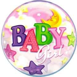 Baby Girl Bubble Balloon-0