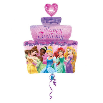Disney Princess Happy Birthday Supershape Balloon -0