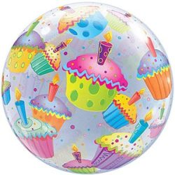 Birthday Cupcake Bubble Balloon-0