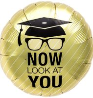 'Now look at you' Graduation Foil Balloon-0