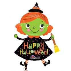 Halloween Cute Witch - SuperShape Foil Balloons-0