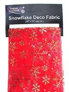 Snowflake Christmas Cloth (Red) Organza Fabric table Runner-0