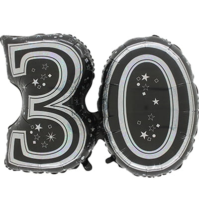 LARGE JOINED FOIL BALLOON (30 BLACK)-0