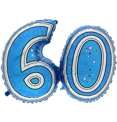 LARGE JOINED FOIL BALLOON BLUE 60-0