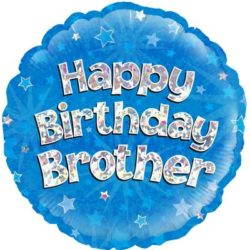 Happy Birthday Brother Foil Balloon-0