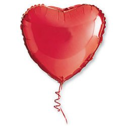 Red Heart Shaped Balloon-0
