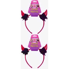 HEN PARTY SMALL DEVIL HORNS VINYL ON HEADBAND-0