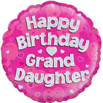 Happy Birthday Grand Daughter Foil Balloon-0