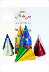 60 x PARTY HATS HOLOGRAPHIC-0