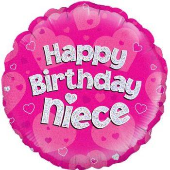 Happy Birthday Niece Foil-0
