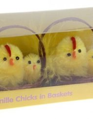 CHENILLE CHICKS IN BASKETS-0