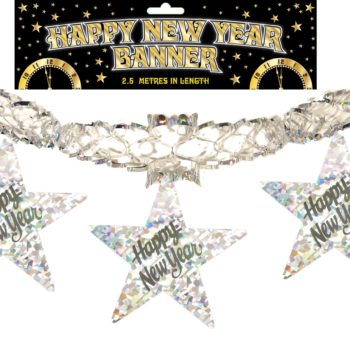 Decoration Garland Happy New Year Holo 2.5m-0
