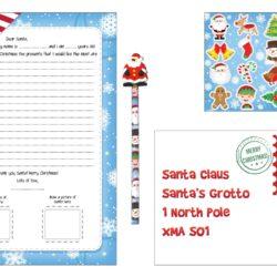 Christmas santa letter writing kit-0