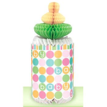 Baby Shower Pastel Bottle Honeycomb Decoration -0