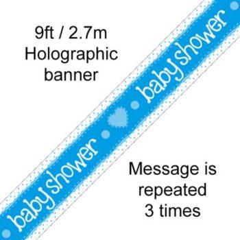 Blue Baby Shower Banner-0