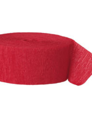 Red Crepe Paper Streamer -0