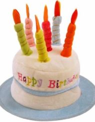 BLUE BIRTHDAY CAKE CANDLES HAT-0
