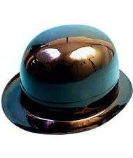 Black Plastic Bowler Hat-0