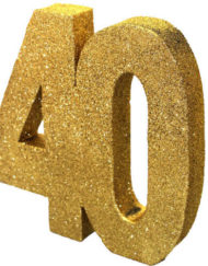 GOLD GLITTER NUMBER TABLE DECORATION - AGE 40-0