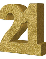 GOLD GLITTER NUMBER TABLE DECORATION - AGE 21-0